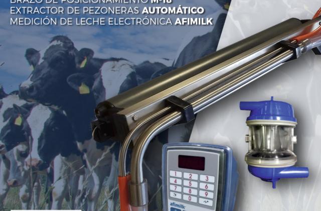 Brazo de posicionamiento + Extractor de pezoneras + Medicion de leche Afimilk