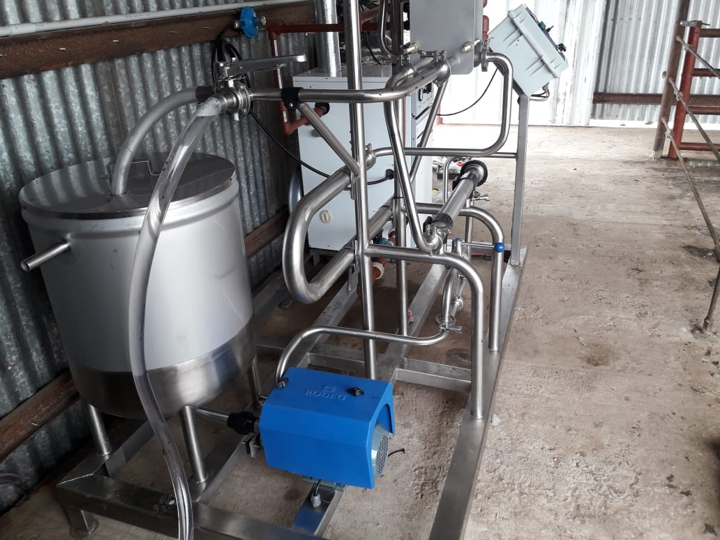 Pasteurizador de leche en Pozo del Molle, Córdoba, Argentina