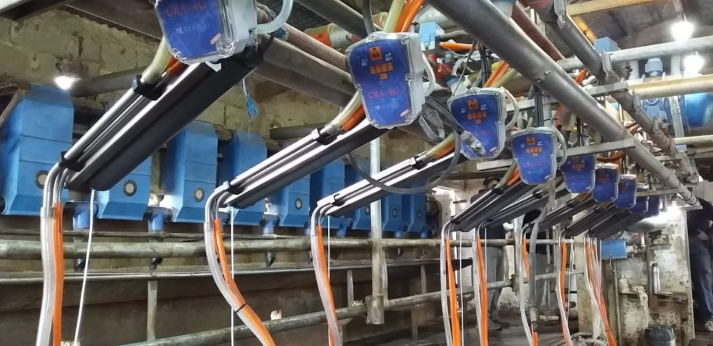 Brazos de Posicionamiento con Extractores Automaticos de Pezoneras en Pehuajo Buenos Aires
