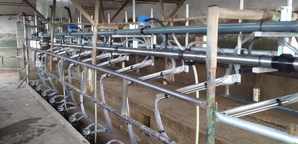 Instalación de Ordeñadora Rodeg Milenium 10 bajadas, con Brazos de Posicionamiento M-18 en Freyre (Córdoba)