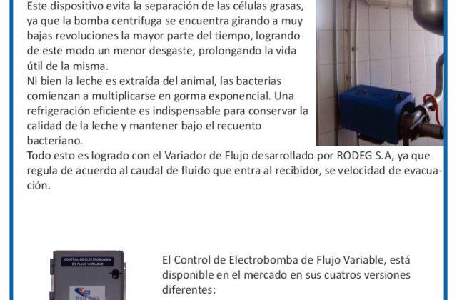 Control de Electrobomba de Flujo Variable (CEFV)