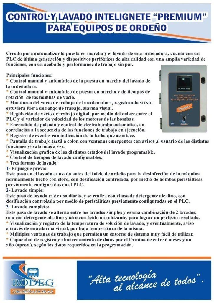 Control y Lavado Inteligente Premium para Equipos de Ordeño