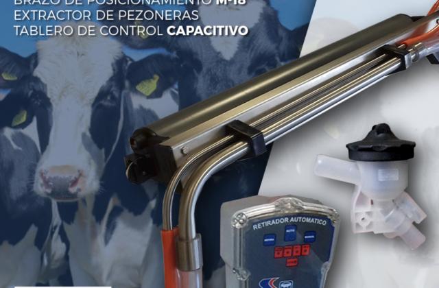 Brazo de posicionamiento + Extractor de pezoneras + Tablero de control