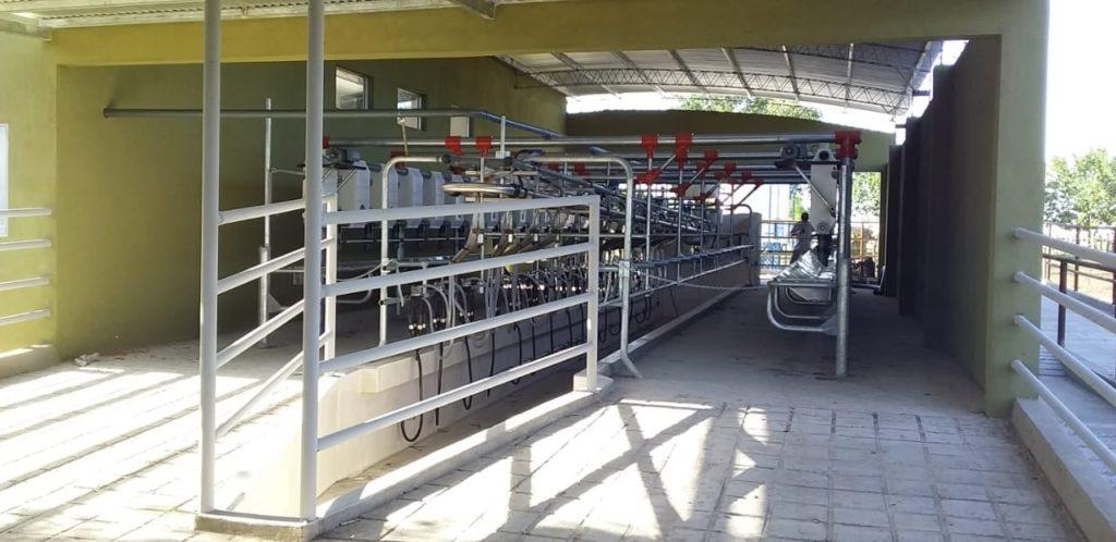 Instalación de Equipo de Ordeño Millenium de 16 bajadas, con Brazos de Posicionamiento, Brete Autoportante y Sistema de Alimentación Automático en Isletas, Entre Ríos