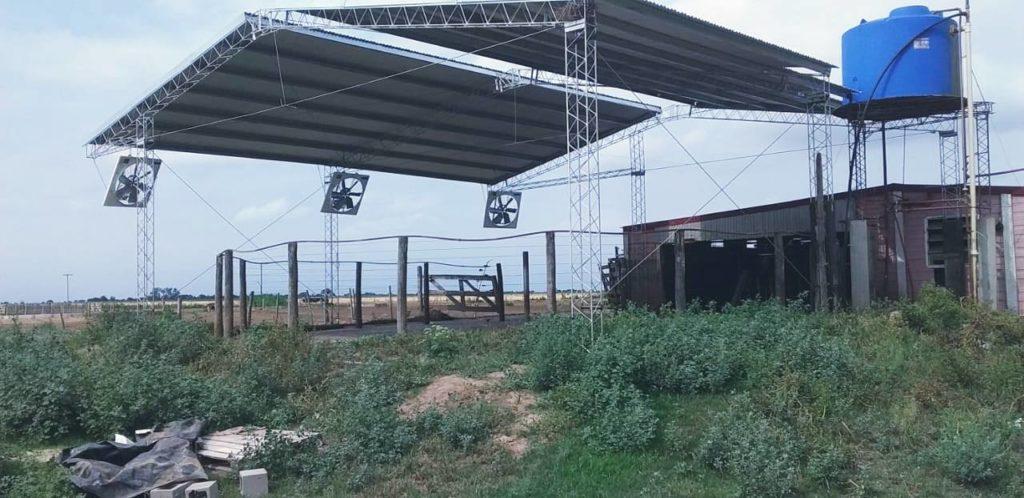Instalación de Sistema Anti-estrés para corral de espera en Las Varas, Córdoba