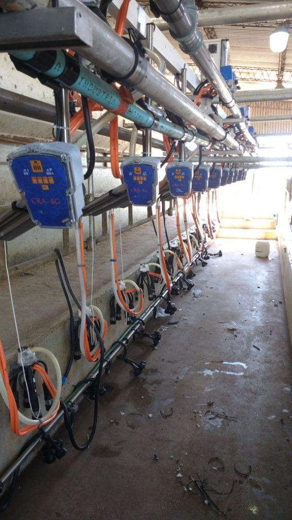 Instalacion de 12 brazos de posicionamientos con extractores