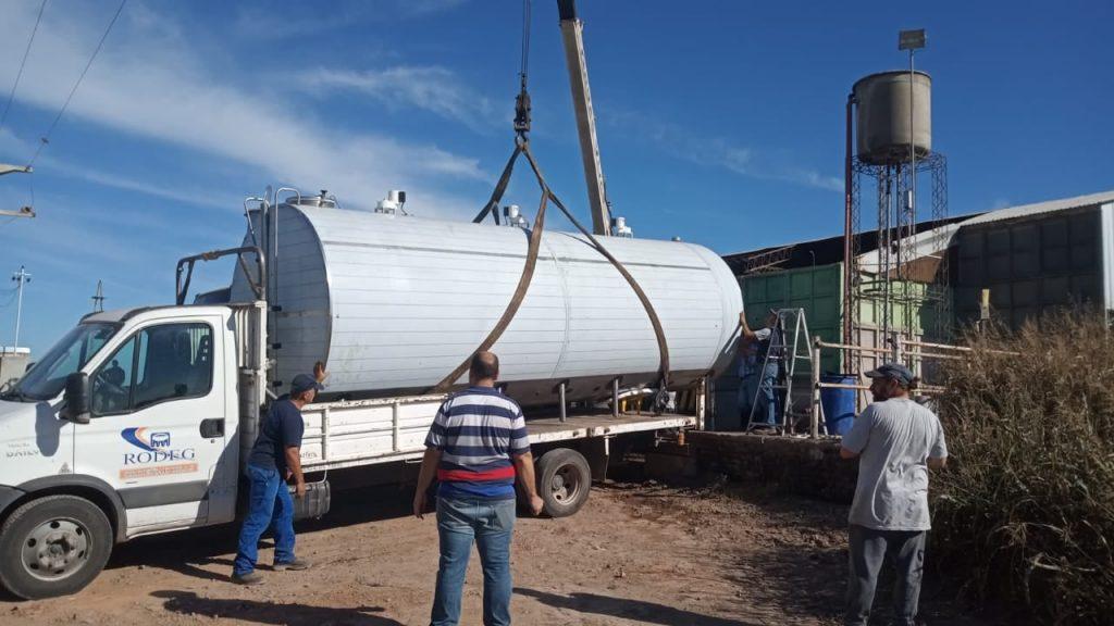 Instalamos Enfriador de leche tipo Cisterna de 20.000 lts. en Humberto Primo